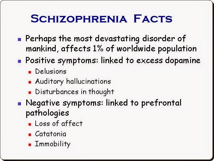 an essay on treatments for schizophrenia patients Ect makes the patient resistant to drugs and it is the last treatment available: this is not true because ect not only increases the efficacy of drugs but it is the first line treatment for many types of psychiatric illnesses (suicidal depression, acute psychosis, postpartum psychosis, excitement or stupor etc.