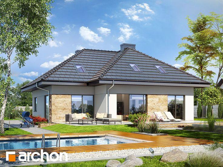 #Nowość! Projekt domu: Dom w tawułach (G2). #Dom jednorodzinny parterowy z poddaszem użytkowym.