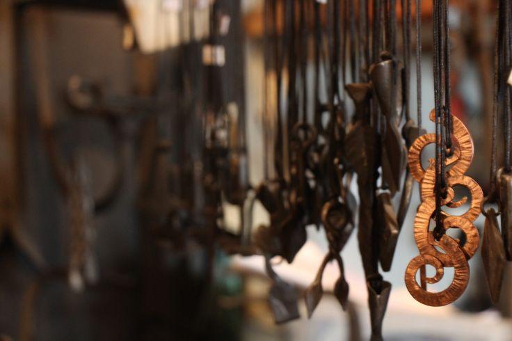 Iron jewerly #visitsouthcoastfinland #Fiskars #Finland #iron #jewerly #finnish #art #design #koru #muotoilu