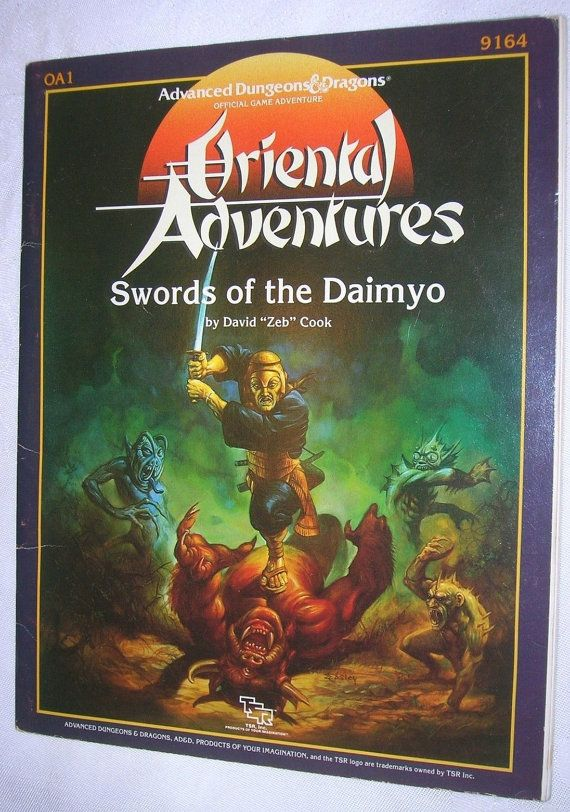 26 best fantasy stuff nighthawk images on pinterest fantasy art advanced dungeons and dragons oriental adventures oa1 swords of the daimyo 9164 david zeb cook 1986 complete module booklets and maps fandeluxe Gallery