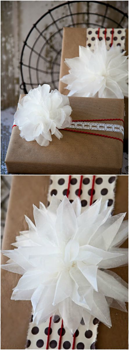 Holiday ● DIY ● Tutorial ● Wax Paper Bow