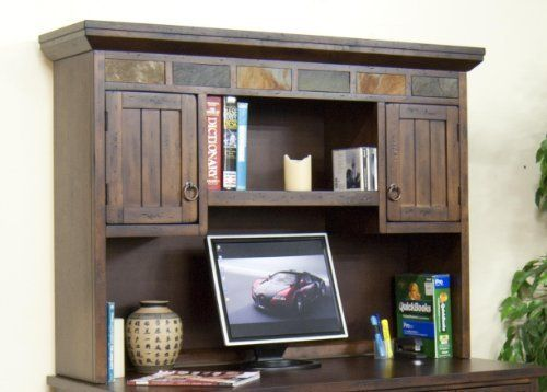 Santa Fe Computer Desk Hutch By Sunny Designs 872 00 Distressed Birch Solids And