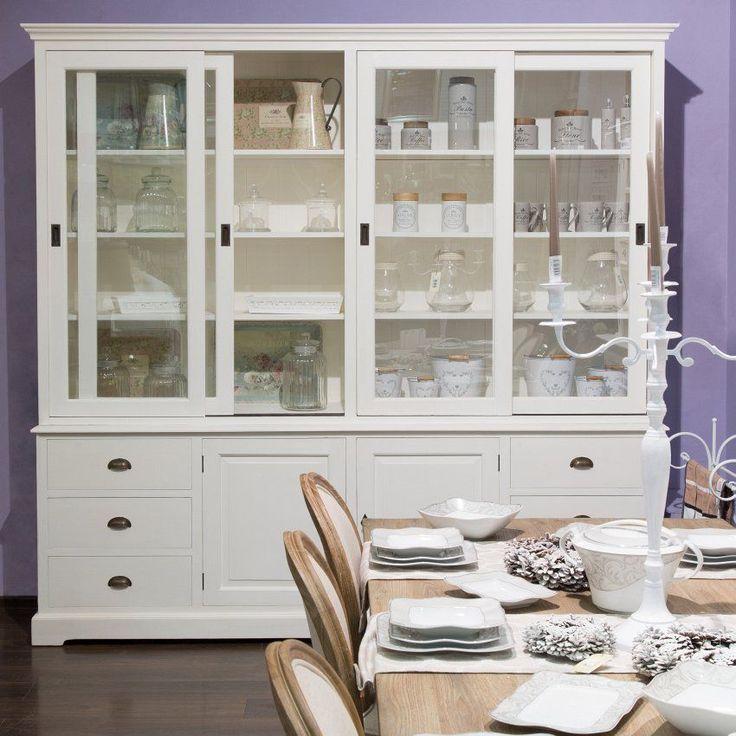 Kredens Brighton 240x45x240cm white, 240x45x240cm - Dekoria #white #meble #biale #furniture #interior #idea #design