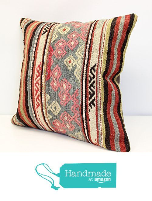 Kilim pillow cover handmade 18x18 inch (45x45 cm) Oriental Kilim pillow cover Home Decor Throw Pillow cover Accent Kilim Cushion Cover vintage from Kilimwarehouse https://www.amazon.com/dp/B0745TVH4G/ref=hnd_sw_r_pi_dp_sqiDzbWVDBCK5 #handmadeatamazon