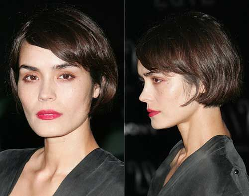 15 Best French Bob Hairstyles: #8. Dark Brown French Bob Style
