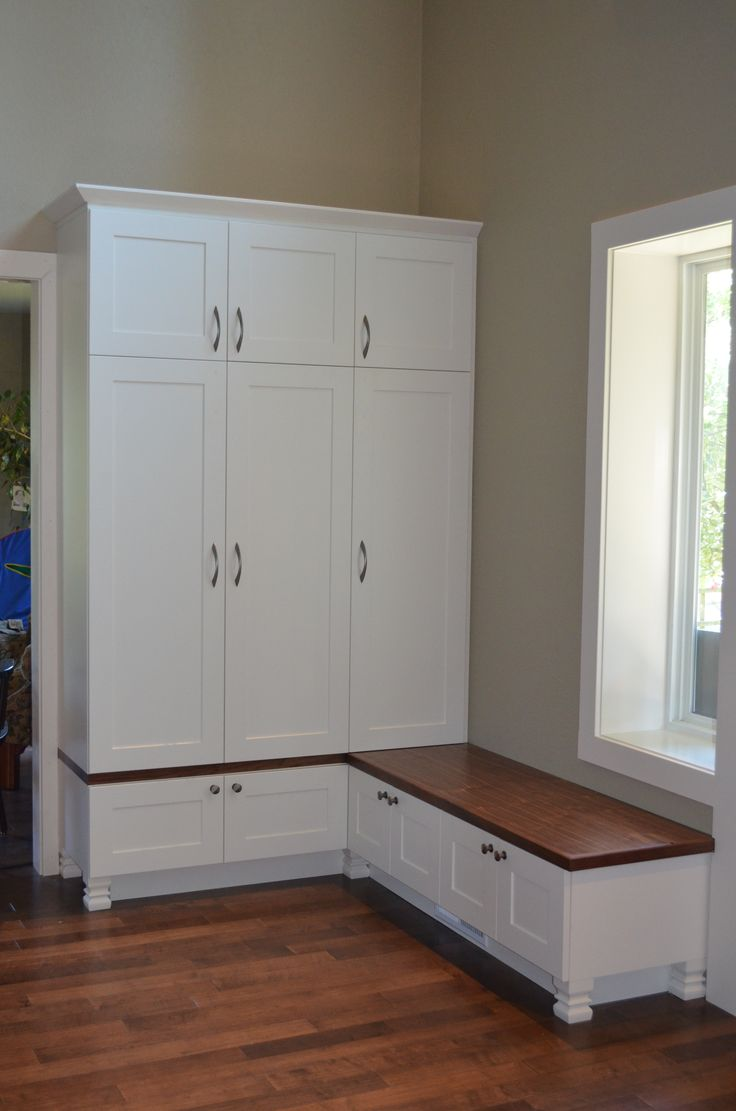 Mudroom Hidden Storage : Entryway storage this is actually a unit that i designed