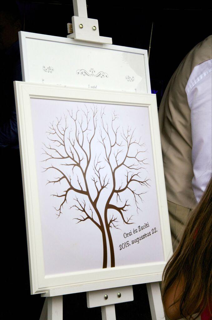 Fingerprint Tree Wedding Guest Book
