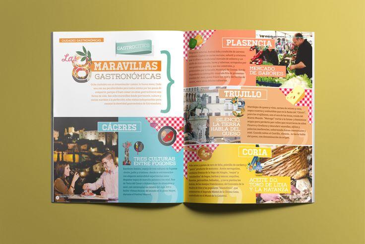 Capítulo: Gastrocities, maravillas gastronómicas - Folleto turístico | Extremadura Gastronómica | Laruinagrafica