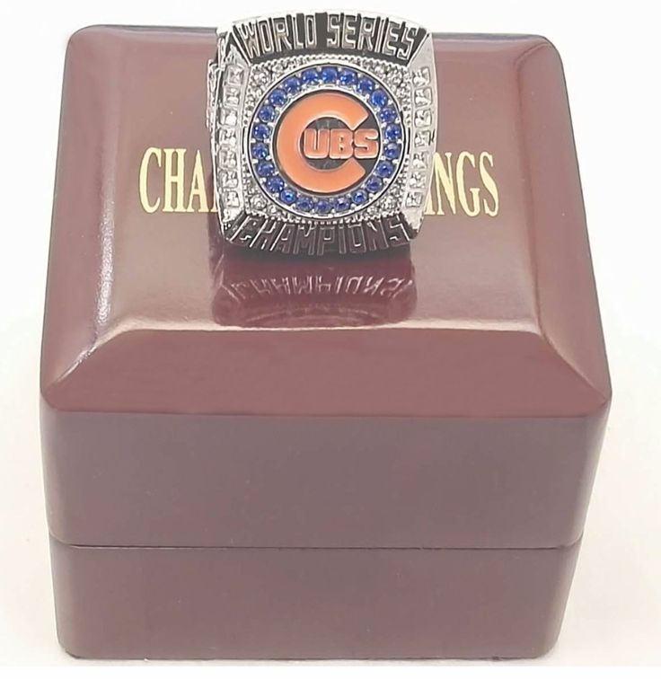 Bottom price The Newest 2016 Chicago Cubs National League Champions Ring with Wooden Boxes