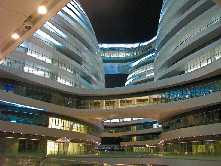 soho galaxy - самое загадочное здание / ночной Пекин