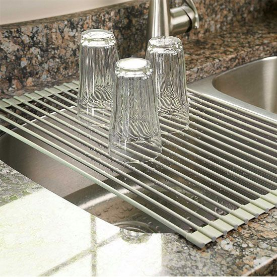 Deal of the Day: 53% Off Over-the-Sink, Roll-Up Dish Drying Rack