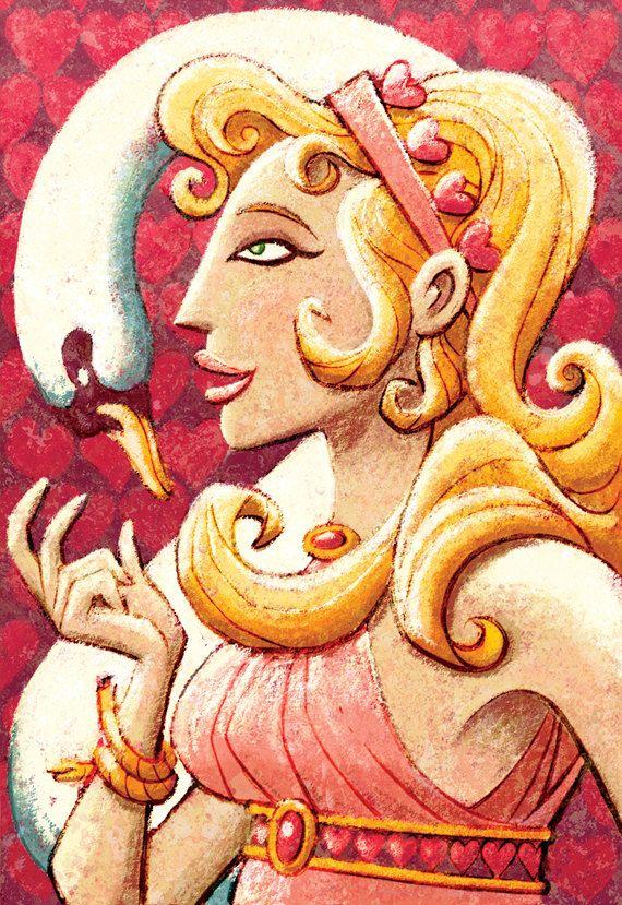 Greek Gods  Aphrodite 5 x 7 Print by glenmullaly on Etsy, $12.00