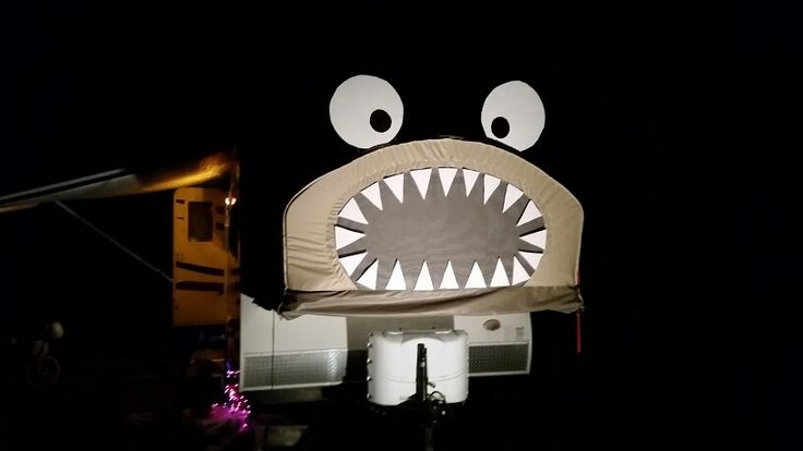 This is how we decorated our Hybrid Camper for Halloween
