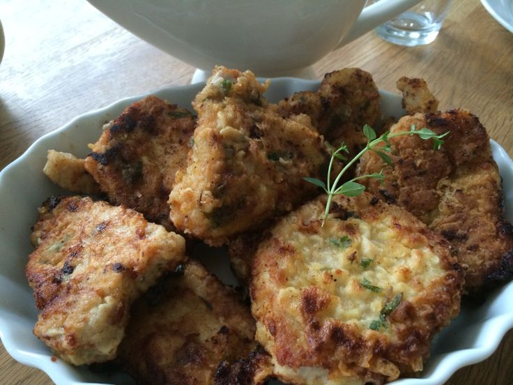 Breaded porkchop with fresh herbs