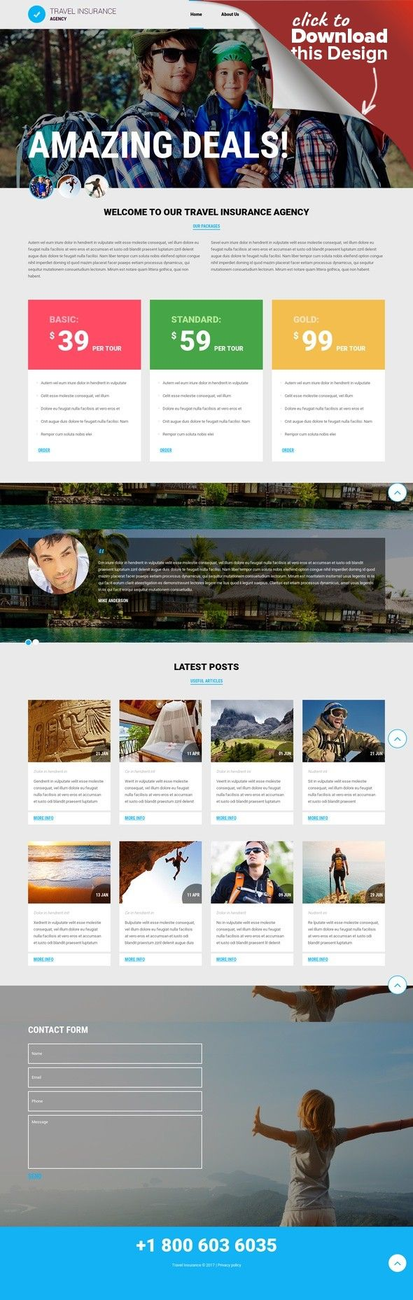 Travel Agency Responsive Joomla Template CMS & Blog Templates, Joomla Templates, Sports, Outdoors & Travel, Travel Templates, Travel Agency Templates