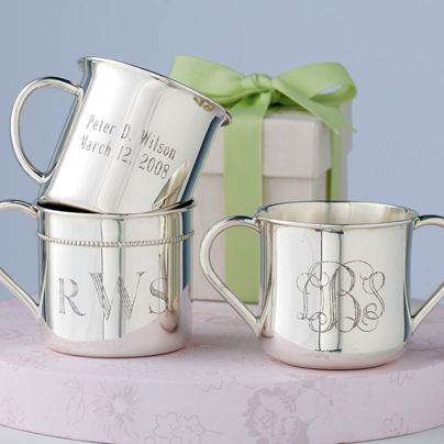 19 best silver baby gifts images on pinterest baby gifts baby tucson az reed barton sterling silver baby cups this monogram or personalized childs cup makes a great gift negle Image collections