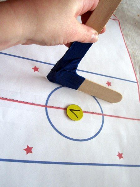 Hockey learning game for preschoolers
