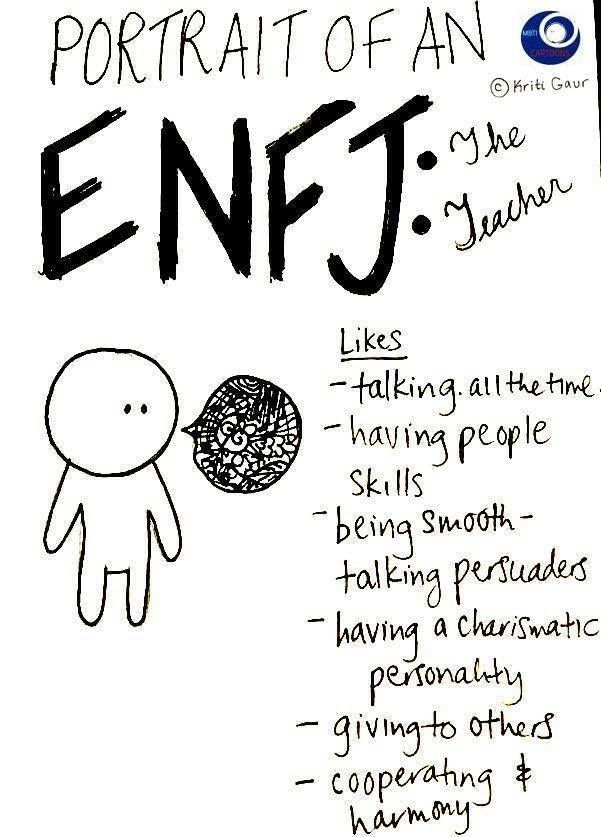 ENFJ... yup talking all the time