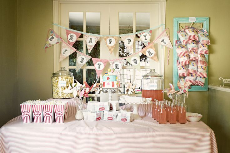 A girl carnival party with great photos & free printables