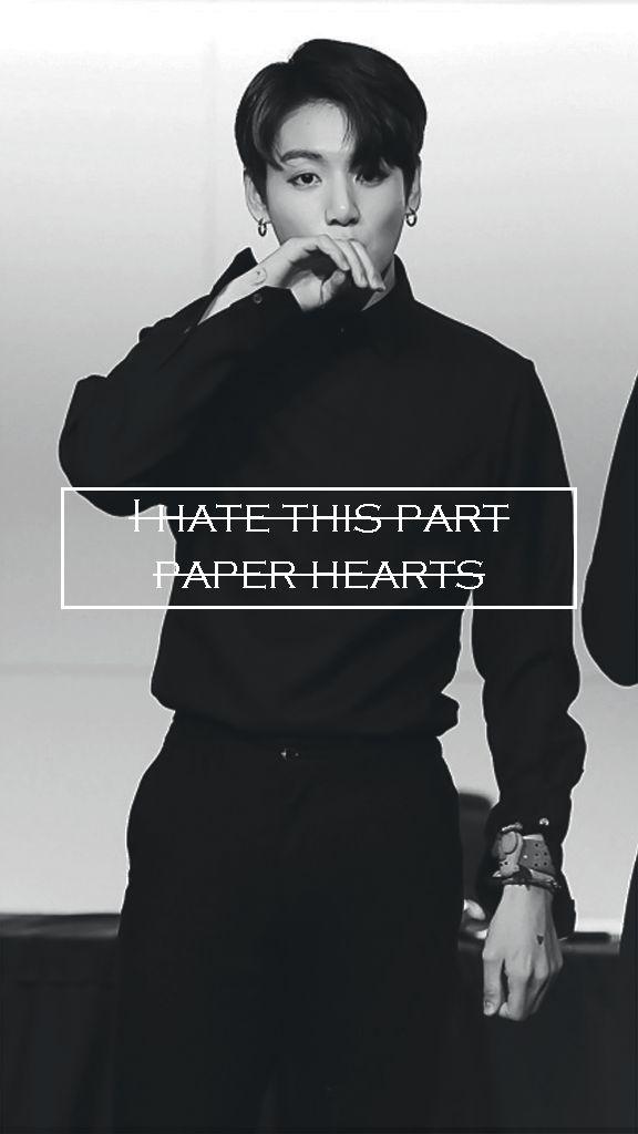 "BTS || Jungkook ""Paper hearts"" wallpaper for phone"