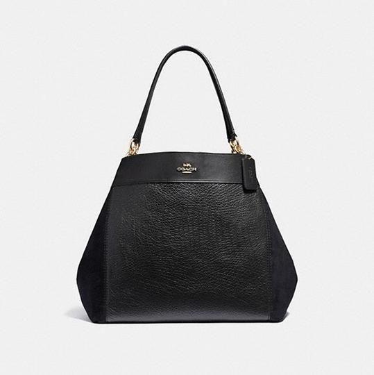 af418d9ed2c Coach Lexy Black Leather Shoulder Bag - Tradesy