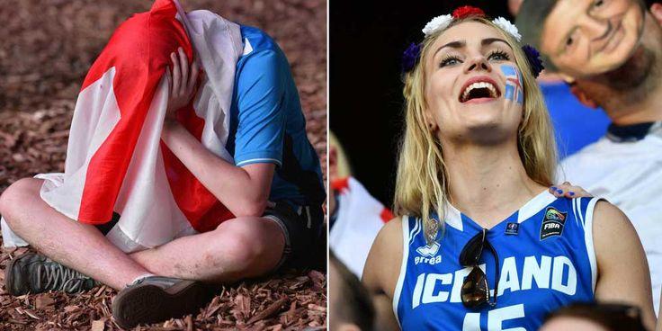Gallery Foto Suporter: Inggris vs Islandia (1-2)