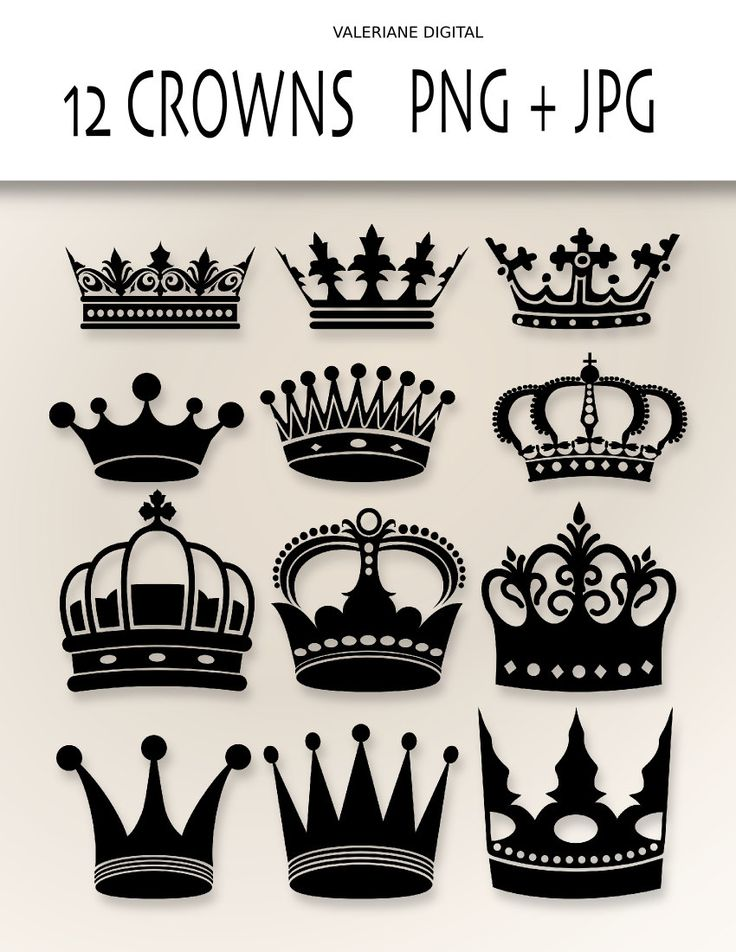 Crown Clip Art  - Digital clipart crowns for invitations, scrapbooking-  PNG and jpg - Clipart Designs INSTANT DOWNLOAD 226. $2.50, via Etsy.