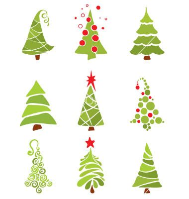 Christmas trees vector 306266 by imagination13 | Royalty Free Vector Art, Vector Graphics & Clipart | VectorStock®.com