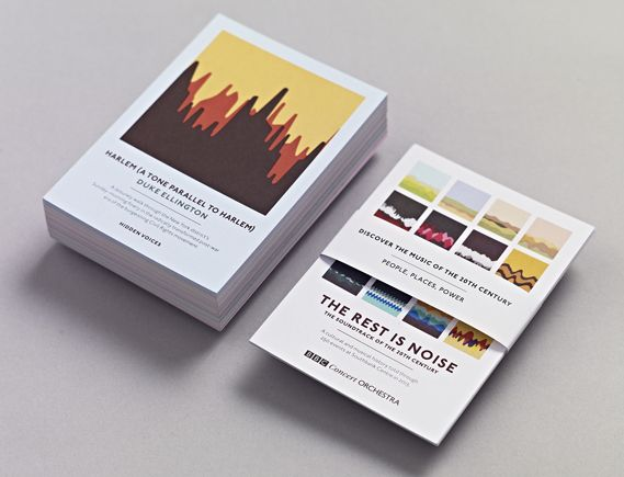 Studio Output's soundwave concert postcards - Creative Review