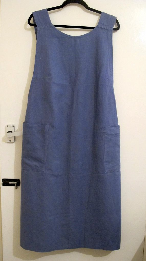 Vintage French industrial workwear artist pinafore by coVenVintage