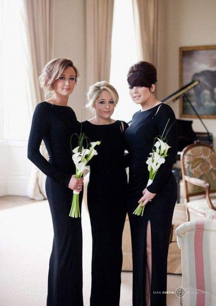 Black long bridesmaid dresses - Wedding Diary