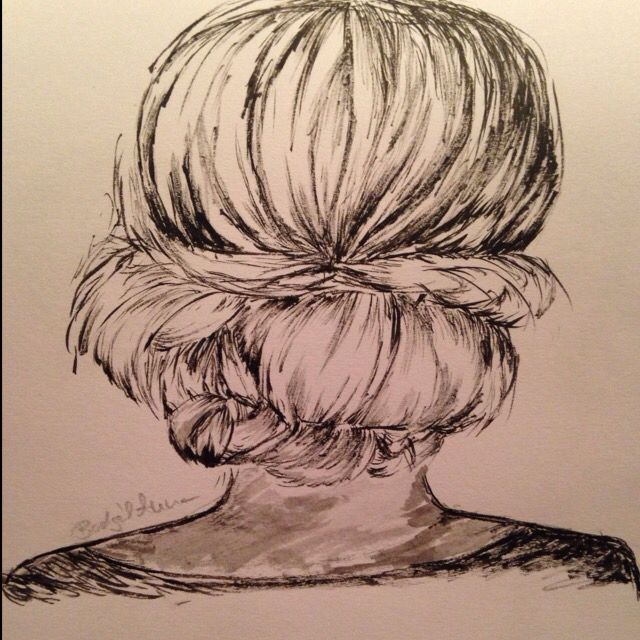 Yeah my profile picture is one of my sketches, hair study with ink #sketch #hairstudy #hair