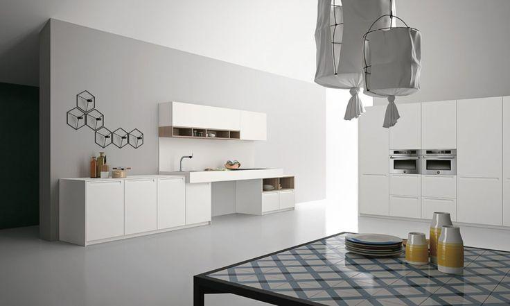 Parete In Legno Cucina : Cucina elegante in legno, Cucine con cappa a ...