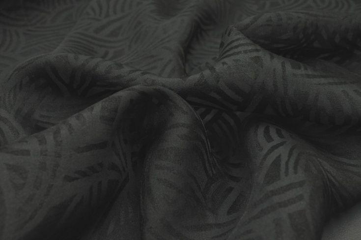 DK fabrics - Organza Swirl Black