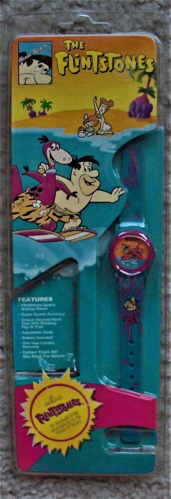 FLINTSTONES Watch HANNA-BARBERA Fred Flintstone DINO DINOSAUR Wilma PEBBLES MIP  | eBay