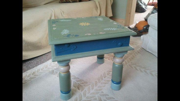Handpainted coffee table