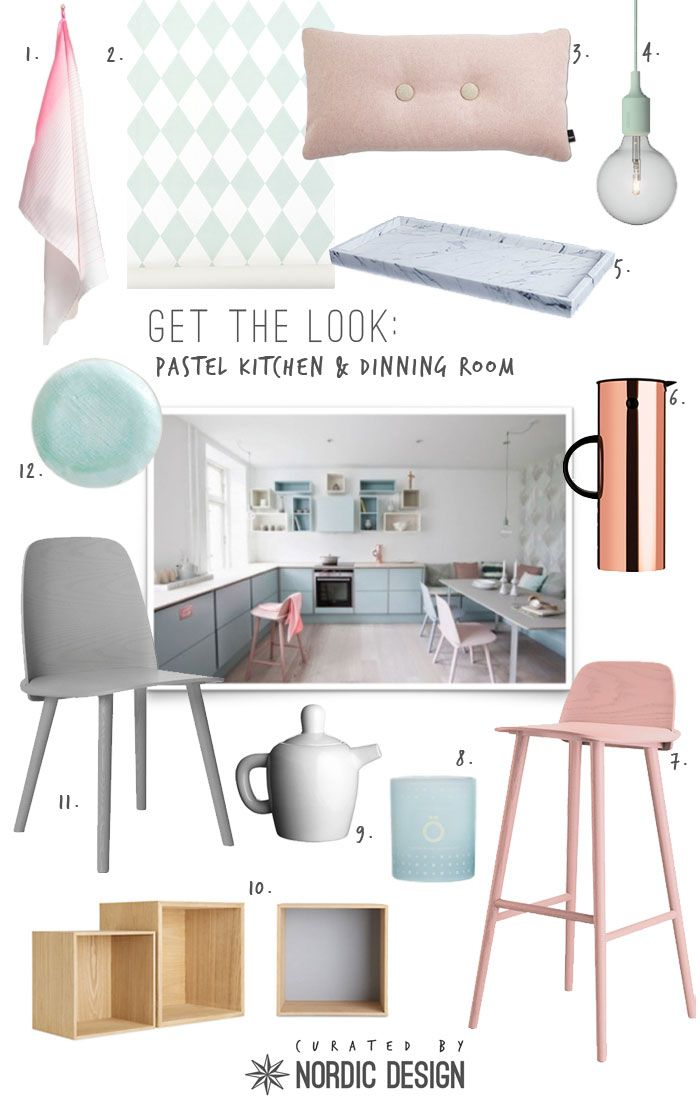 Get the look: Pastel Kitchen and Dinning Room   NordicDesign