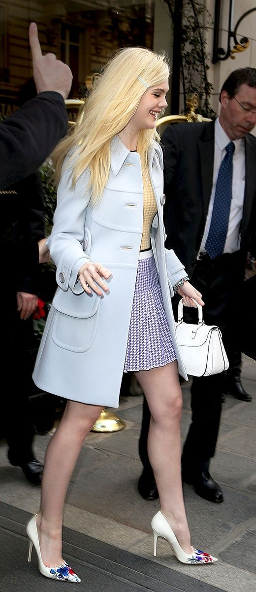 Vogue Daily — Elle Fanning in Miu Miu #streetstyle