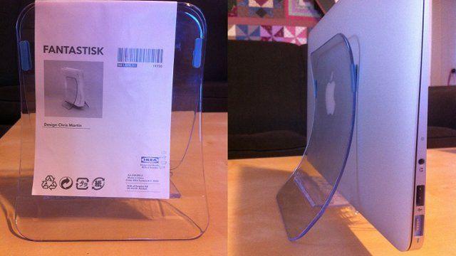 IKEAのナプキンホルダーをMacbook Airのスタンドとして使用!