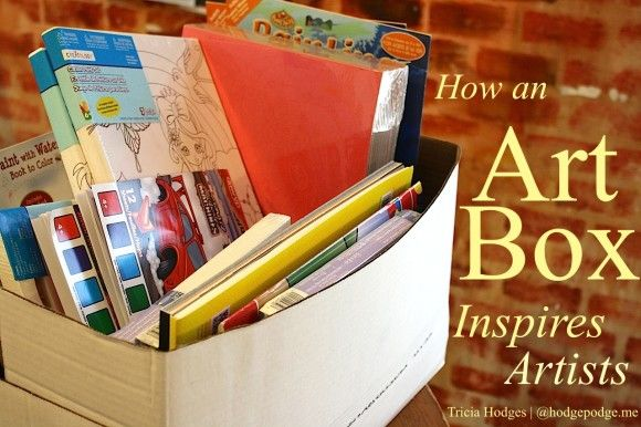 How an Art Box Can Inspire Artists www.hodgepodge.me