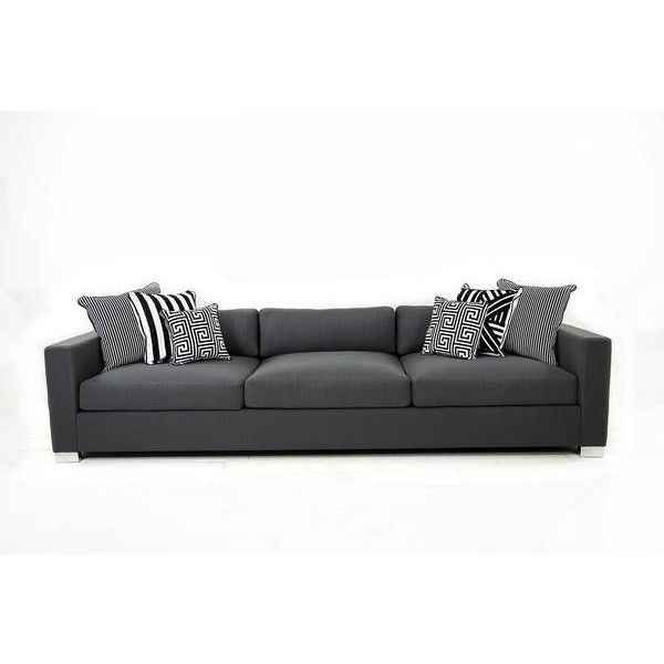 Shoreclub Sofa in Zuma Charcoal ($2,845) ❤ liked on Polyvore featuring home, furniture, sofas, plush couch, dark grey sofa, dark gray sofa, charcoal grey furniture and charcoal furniture