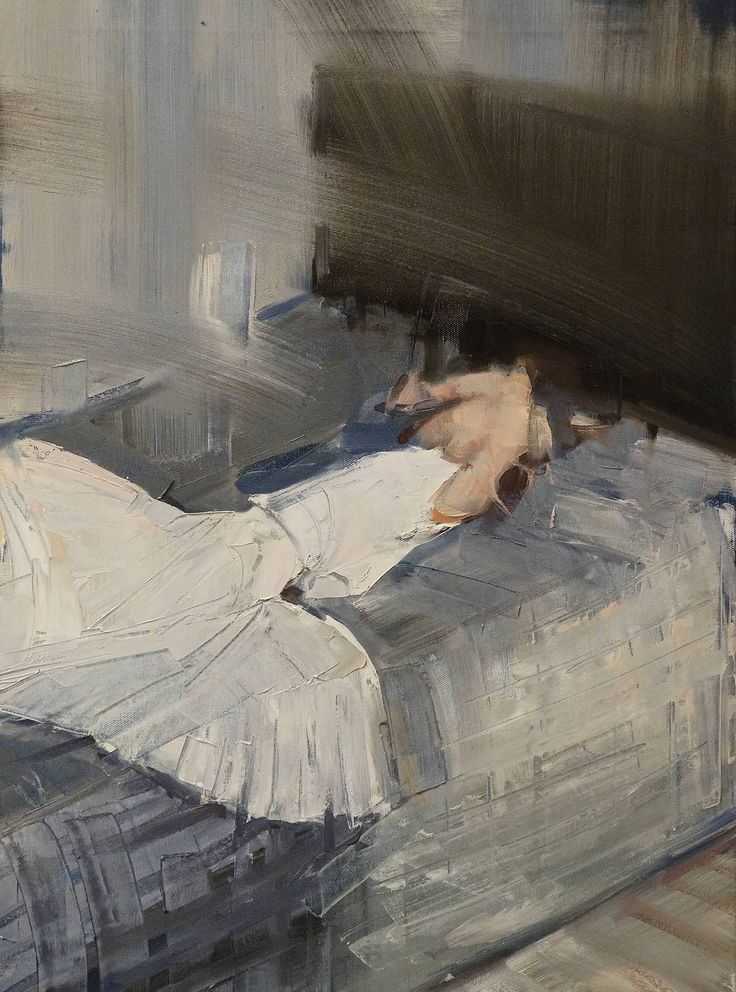 """Saatchi Art Artist: Fanny Nushka Moreaux; Oil 2014 Painting """"July 21st, after a photograph by AMY GWATKIN"""""""
