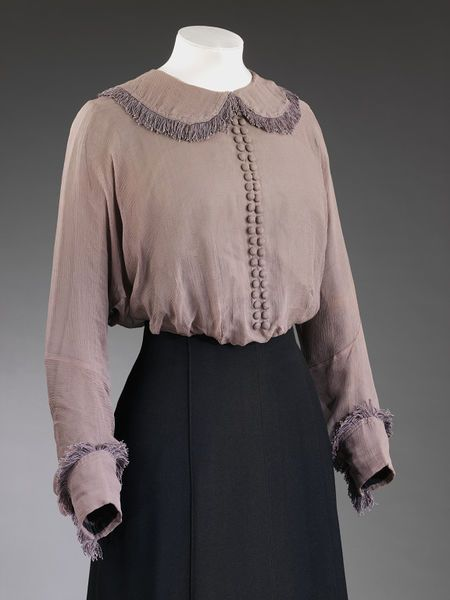 London, England (made) United States (underarm shields, made) Date: c.1912 (made) Artist/Maker: Mascotte (designer) Blouse | Mascotte | V&A Search the Collections