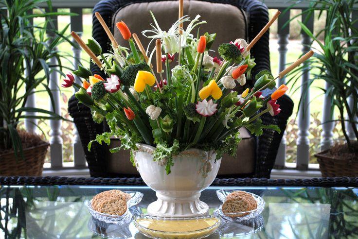 Edible vegetable bouquet!