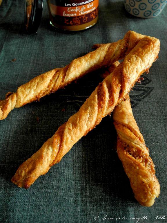 Allumettes à la confiture de lait et noisettes | Blog de recettes bio : Le cri de la courgette...