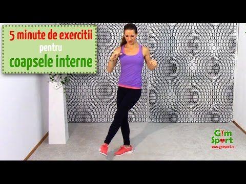 Exercitii pentru coapsele interioare - VIDEO 5 minute - YouTube