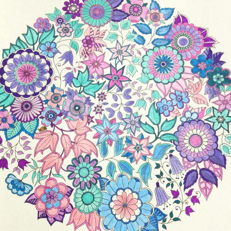 flor azul jardim secreto : flor azul jardim secreto:Jardim Secreto – Johanna Basford – Secret Garden