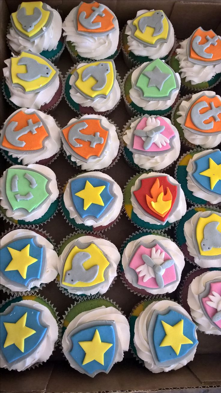 Pow patrol cupcakes