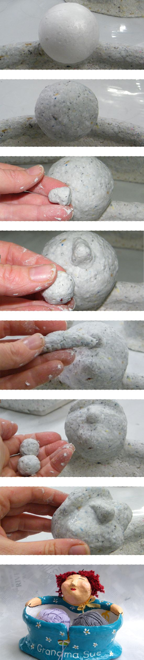 How to make paper mache face https://www.etsy.com/listing/215052817/personalized-yarn-bowl-whimsical?ref=shop_home_active_18