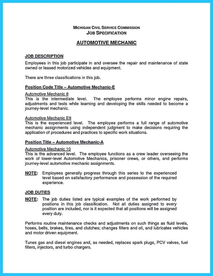 nice Delivering Your Credentials Effectively on Auto Mechanic - automotive mechanic resume